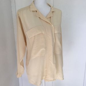 EllenTracy cream button down, sz 14